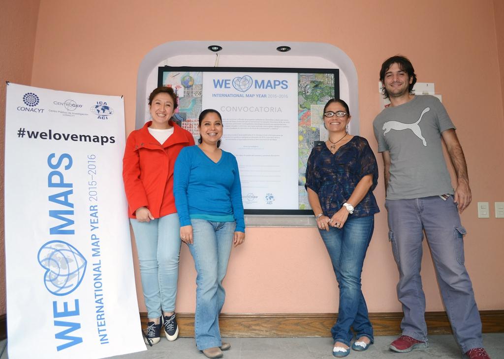 CentroGeo's IMY Committee:  Gabriela Quiroz, Gabriela Lopez, Yezmín Calvillo and Jose Alavez