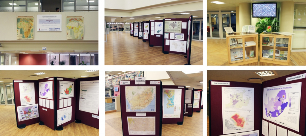 CGIS Map Exhibition: UP Student Competition Maps & Other South African Companies, Merensky II, 2–23 November 2015, Hatfield Campus