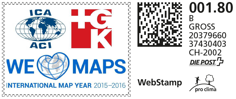 Swiss webstamp created for the International Map Year