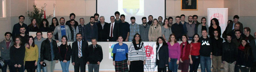 Group photo from the GIS Day symposium in December 2016