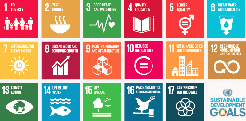 The Sustainable Development Goals, officially known as Transforming our world: the 2030 Agenda for Sustainable Development are a UN Initiative. Official website: https://sustainabledevelopment.un.org