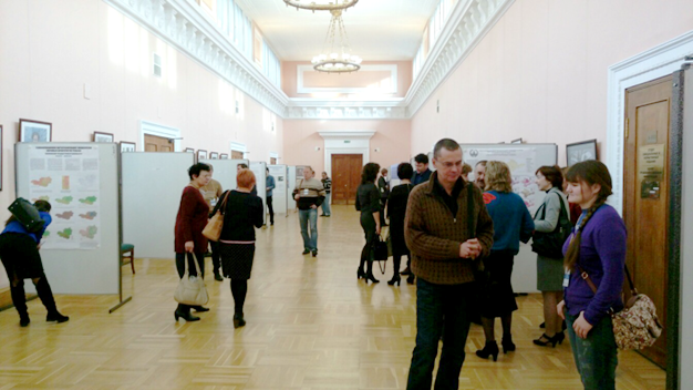 Poster session at the Russian State Library