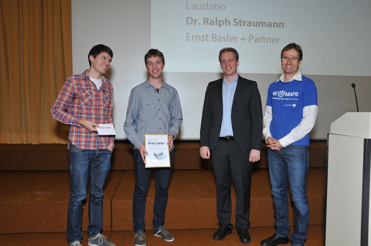 Left: Pascal Tschudi und Fabian Ringli, winners of the Prix Carto – category for students